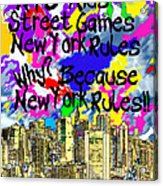 Nyc Kids' Street Games Poster Acrylic Print