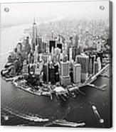 Nyc Manhattan Aerial Acrylic Print