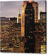Nyc Midtown Golden Lights Acrylic Print