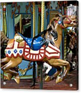 Nyc - Old Glory Pony Acrylic Print