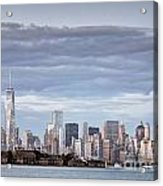 Nyc On A Cloudy Day Acrylic Print