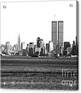 Nyc Skyline 1990s Acrylic Print by John Rizzuto