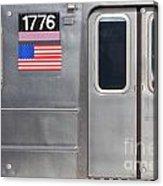Nyc Subway Car 1776 Acrylic Print by Jannis Werner