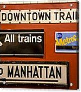 Nyc Subway Signs Acrylic Print