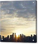 Nyc Sunrise Panorama Acrylic Print