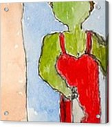 Nyc Transit Authority - Number Ten - From Postcards-to-myself Series Acrylic Print