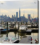 Nyc View From Lincoln Harbor Weehawkin Nj Acrylic Print