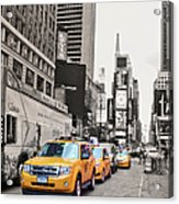 Nyc Yellow Cabs Acrylic Print