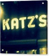 Nyc's Famous Katz's Deli Acrylic Print