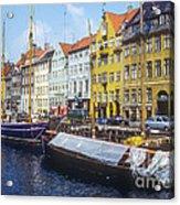Nyhavn Boat Docks Acrylic Print