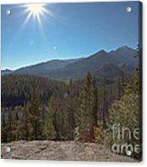 Nymph Lake And Longs Peak Acrylic Print