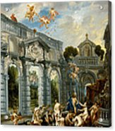 Nymphs At The Fountain Of Love Acrylic Print