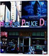 Nypd Time Square Acrylic Print