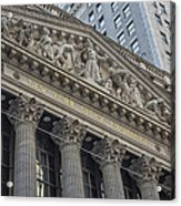Nyse  New York Stock Exchange Wall Street Acrylic Print
