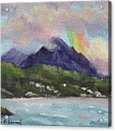 Oahu North Shore Rainbow Acrylic Print