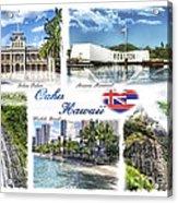 Oahu Postcard 2 Acrylic Print