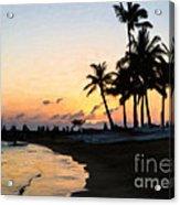 Oahu Sunset Acrylic Print
