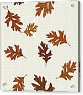 Oak Leaves Art Acrylic Print