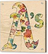 Oakland Athletics Logo Vintage Acrylic Print