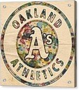 Oakland Athletics Poster Vintage Acrylic Print