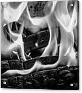 Oakwood Flames Acrylic Print