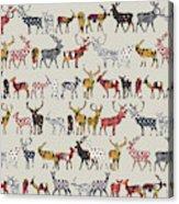 Oatmeal Spice Deer Acrylic Print