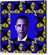 Obama Abstract Window 20130202m118 Acrylic Print by Wingsdomain Art and Photography