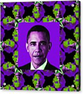 Obama Abstract Window 20130202m88 Acrylic Print by Wingsdomain Art and Photography