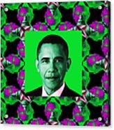 Obama Abstract Window 20130202p128 Acrylic Print