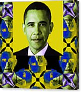 Obama Abstract Window 20130202verticalp55 Acrylic Print by Wingsdomain Art and Photography
