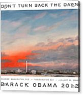 Obama Campaign Poster 2012 Acrylic Print by William Van Doren