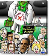 Obama Care Frankenstein Balloon Acrylic Print