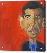 Obama Caricature Acrylic Print by Isaac Walker