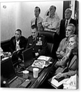 Obama In White House Situation Room Acrylic Print