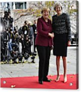 Obama Meets With European Leaders In Berlin Acrylic Print