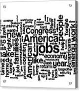 Obama State Of The Union Address - 2013 Acrylic Print by David Bearden