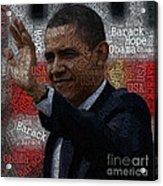 Obama Usa Typography Design Acrylic Print