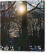 Obelisk Of Fire Acrylic Print
