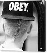Obey  Acrylic Print