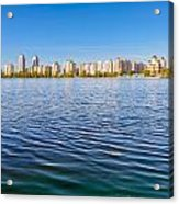 Obolon Skyline Close To The Dnieper River In Kiev Acrylic Print