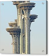 Observation Tower At Olympic Park - Beijing China Acrylic Print