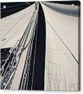Obsession Sails 2 Black And White Acrylic Print
