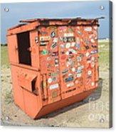 Obx Beach Dumpster Acrylic Print