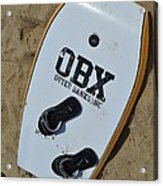 Obx Outer Banks Surf Board Acrylic Print