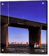 O.c. Bridge N Skyline Acrylic Print
