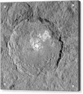 Occator Crater Acrylic Print