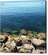 Ocean And Rocks Acrylic Print