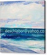 Ocean Assateague Virginia Acrylic Print