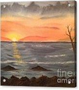 Ocean At Sunset Acrylic Print