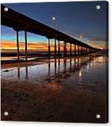 Ocean Beach California Pier 4 Acrylic Print by Larry Marshall